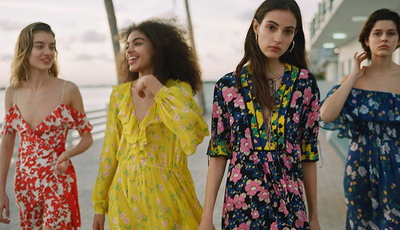 Giulia Maenza, Samantha Ellsworth, Camille Hurel and Vivienne Rohner star in Topshop's high summer 2018 campaign