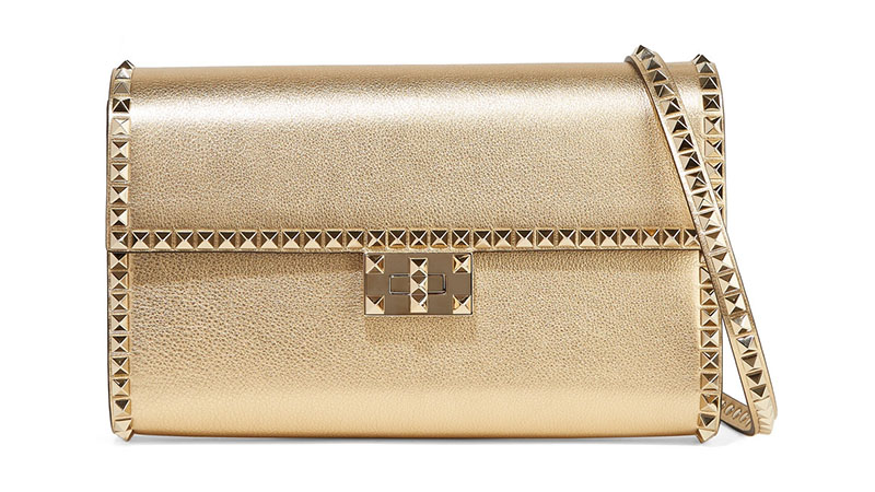 Valentino The Rockstud No Limit Metallic Shoulder Bag $1,536.50 (previously $2,195)