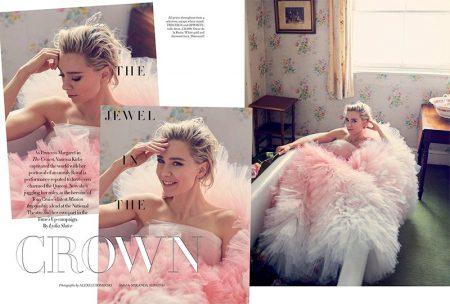 Vanessa Kirby Stuns in Haute Couture Gowns for Harper's Bazaar UK