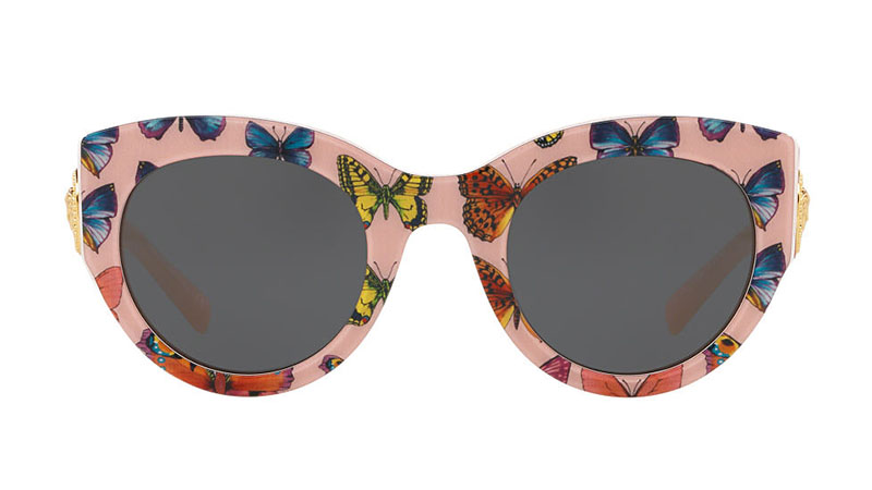 Versace Butterfly Print Sunglasses $295