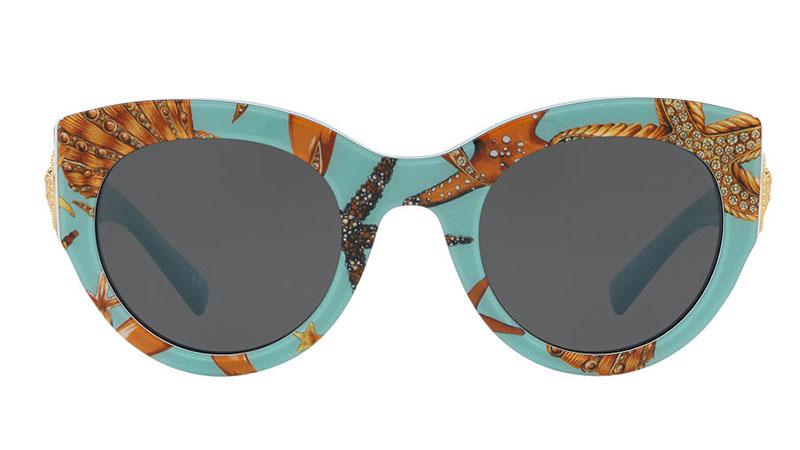Versace Tresor de la Mer Print Sunglasses $295