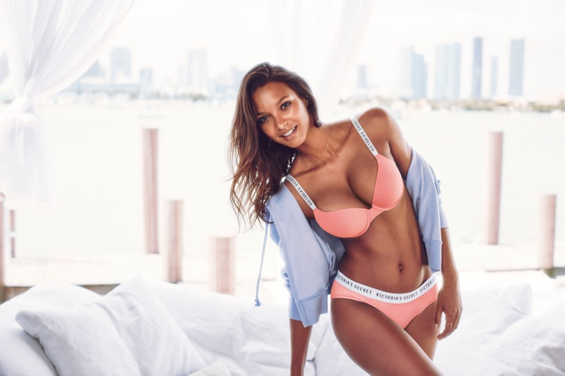 Lais Ribeiro stars in Victoria's Secret Stretch Cotton campaign