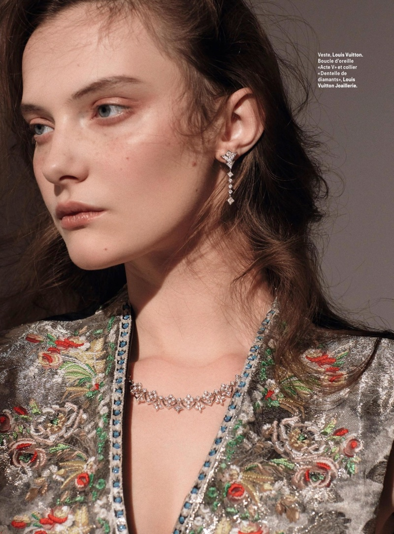 Vovk Dazzles in Precious Gems for Grazia France