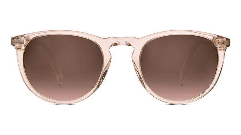Warby Parker Haskell Sunglasses in Paloma Crystal with Brown Gradient Lenses $95