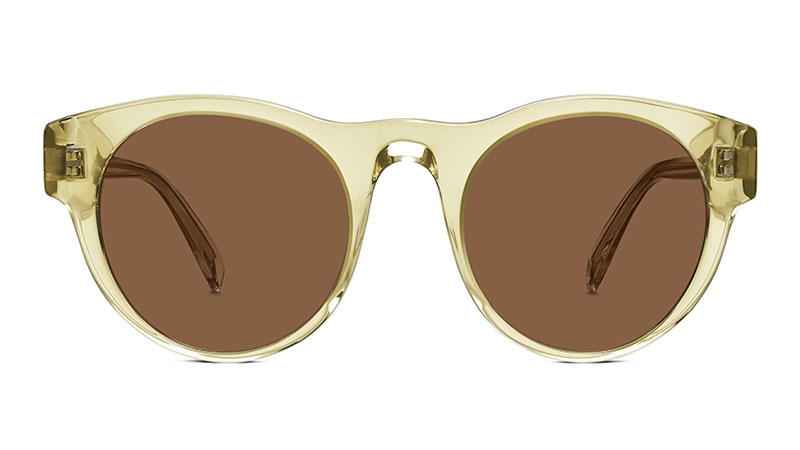 Warby Parker Jones Sunglasses in Lemongrass Crystal with Classic Brown Lenses $95