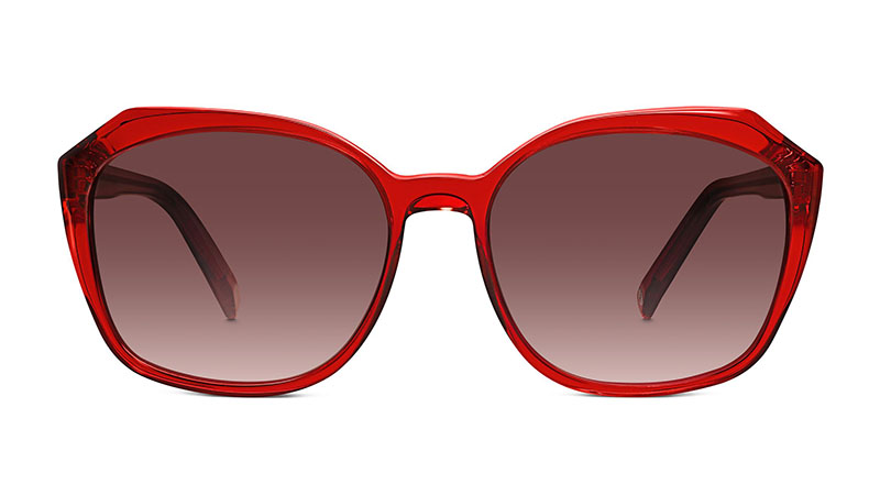 Warby Parker Nancy Sunglasses in Ruby with Classic Violet Lenses $95