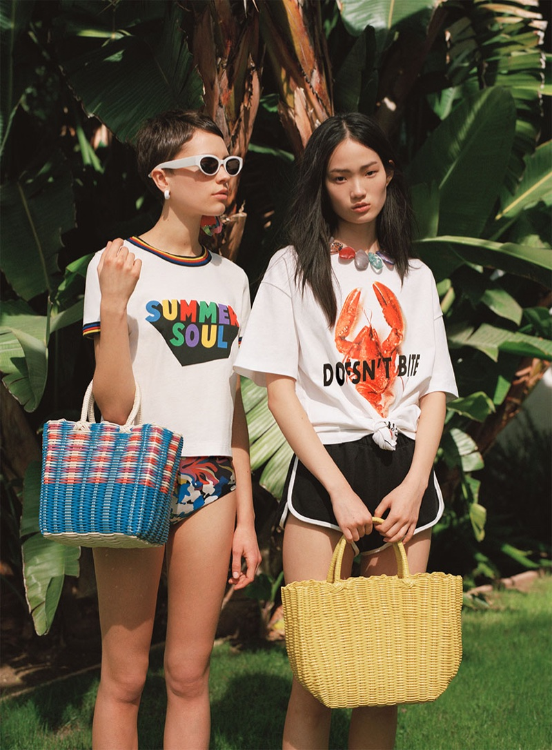 541e964db7e9bb ... Hyunji Shin and Loane Normand front Zara California Rush spring-summer  2018 lookbook