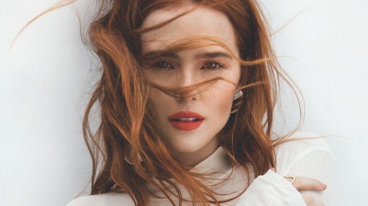 Actress Zoey Deutch wears Nanushka turtleneck top