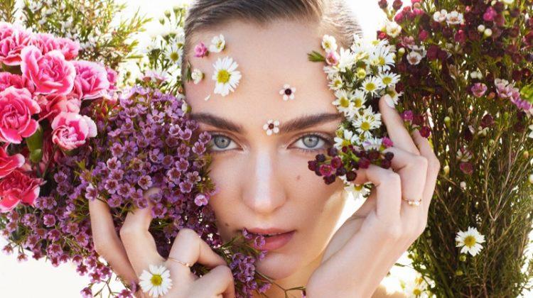 Zuzanna Bijoch Models Spring Beauty Trends for Vogue Taiwan