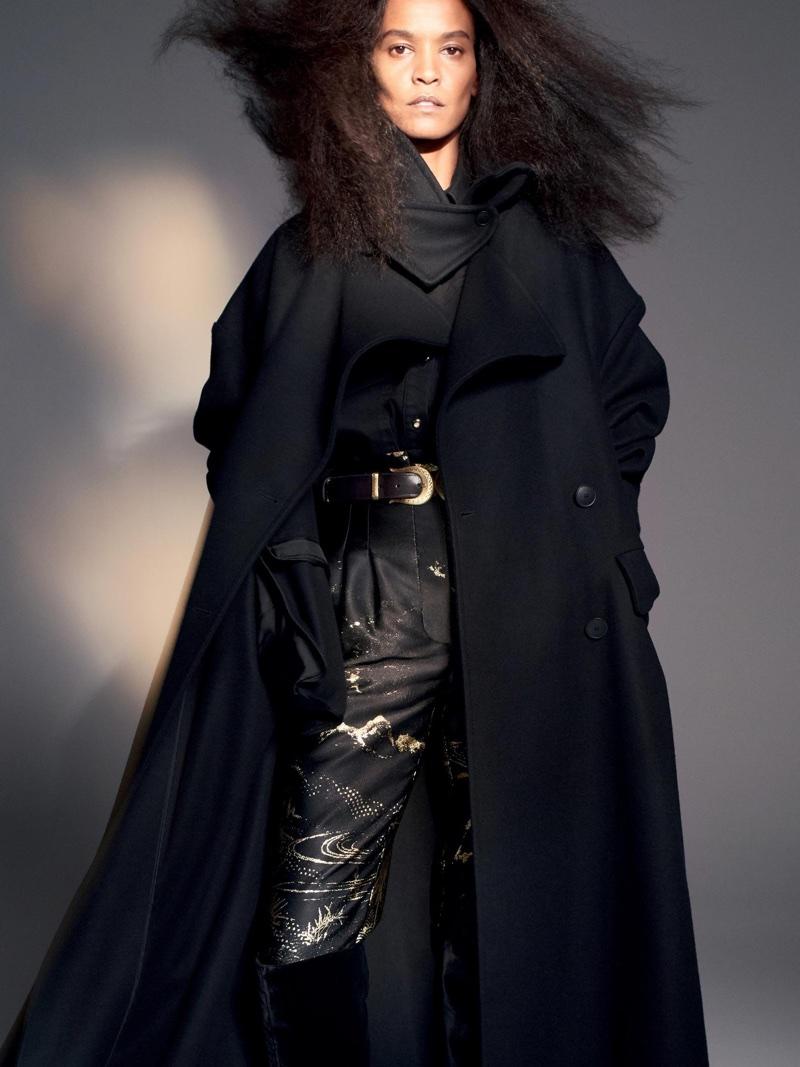 Liya Kebede stars in Alberta Ferretti's fall-winter 2018 campaign