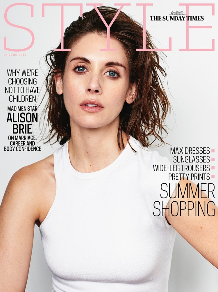 Alison Brie on Sunday Times Style June 24, 2018 Cover