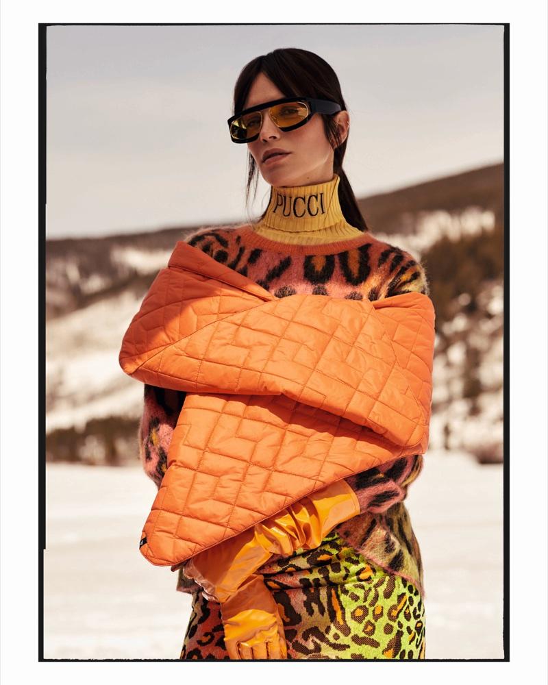 Amanda Wellsh Looks Ready for Ski Season in ELLE Brazil