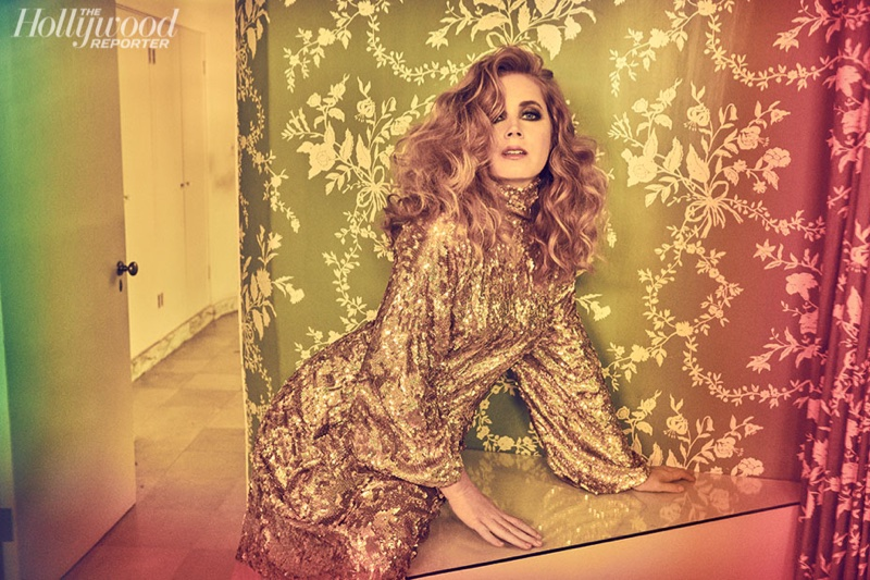 Amy Adams shines in Gucci dress and Neil Lane jewelry