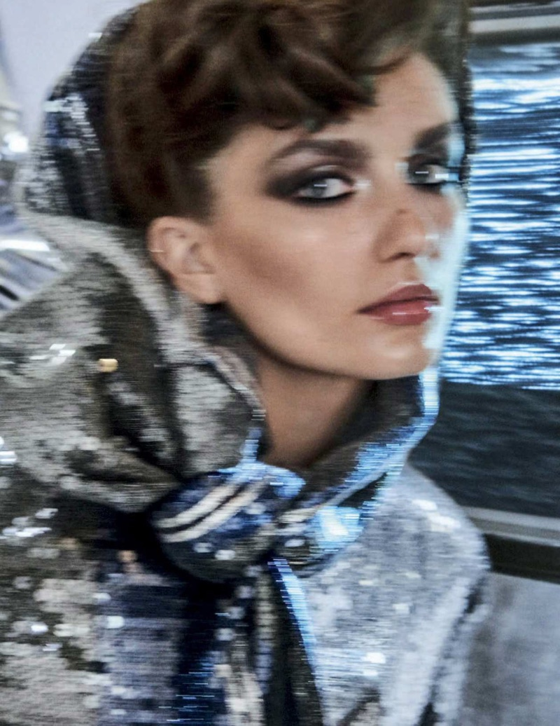 Andreea Diaconu Takes On 80's Fashion for Vogue Latin America