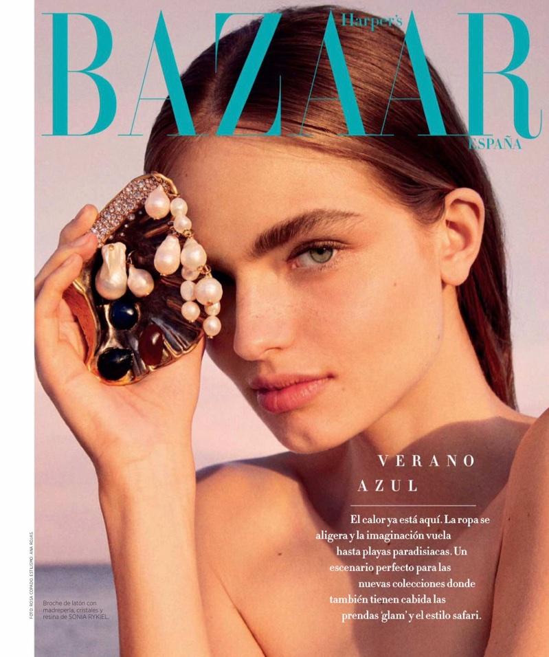 Anna Mila Guyenz Poses in Beachy Looks for Harper's Bazaar Spain