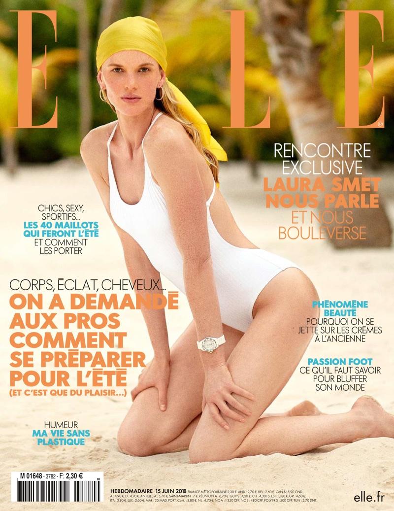 Anne Vyalitsyna Soaks Up the Sun in Summer Swim for ELLE France