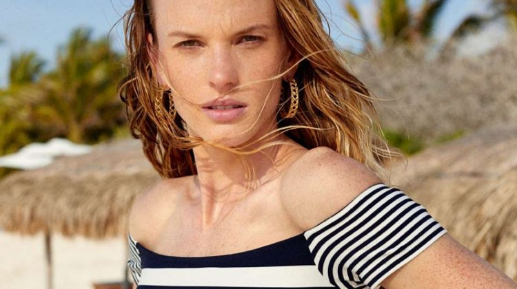 Anne Vyalitsyna Soaks Up the Sun in Summer Swim for ELLE France