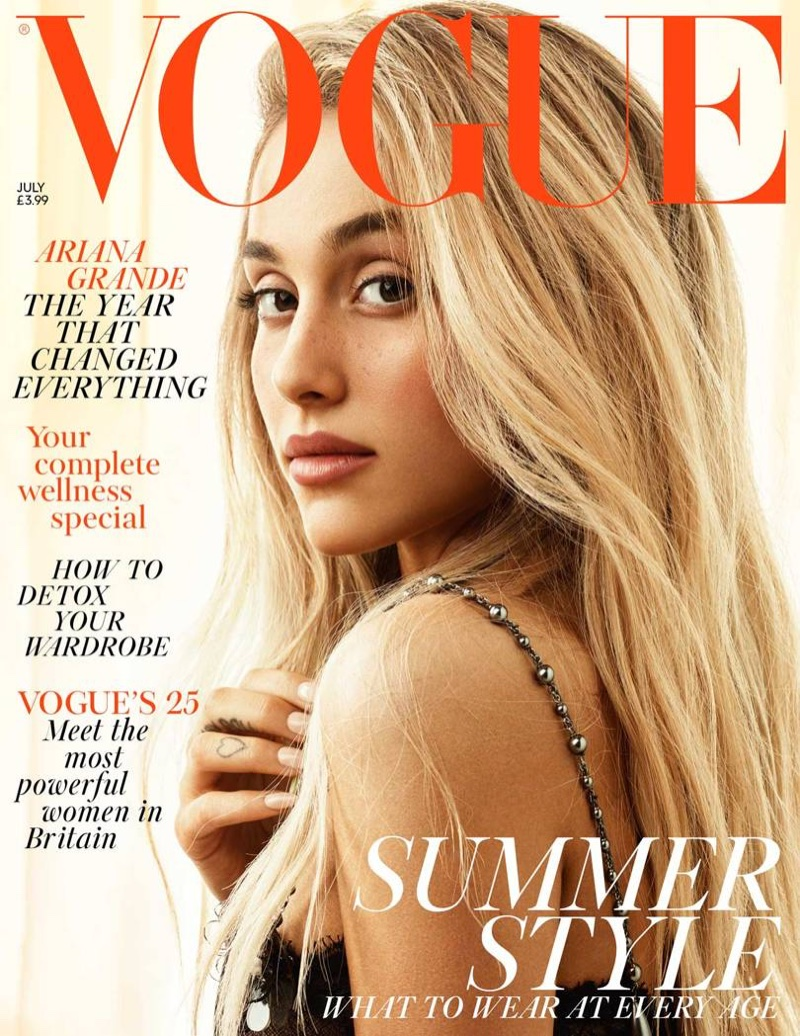 Ariana Grande on Vogue UK July 2018 Cover