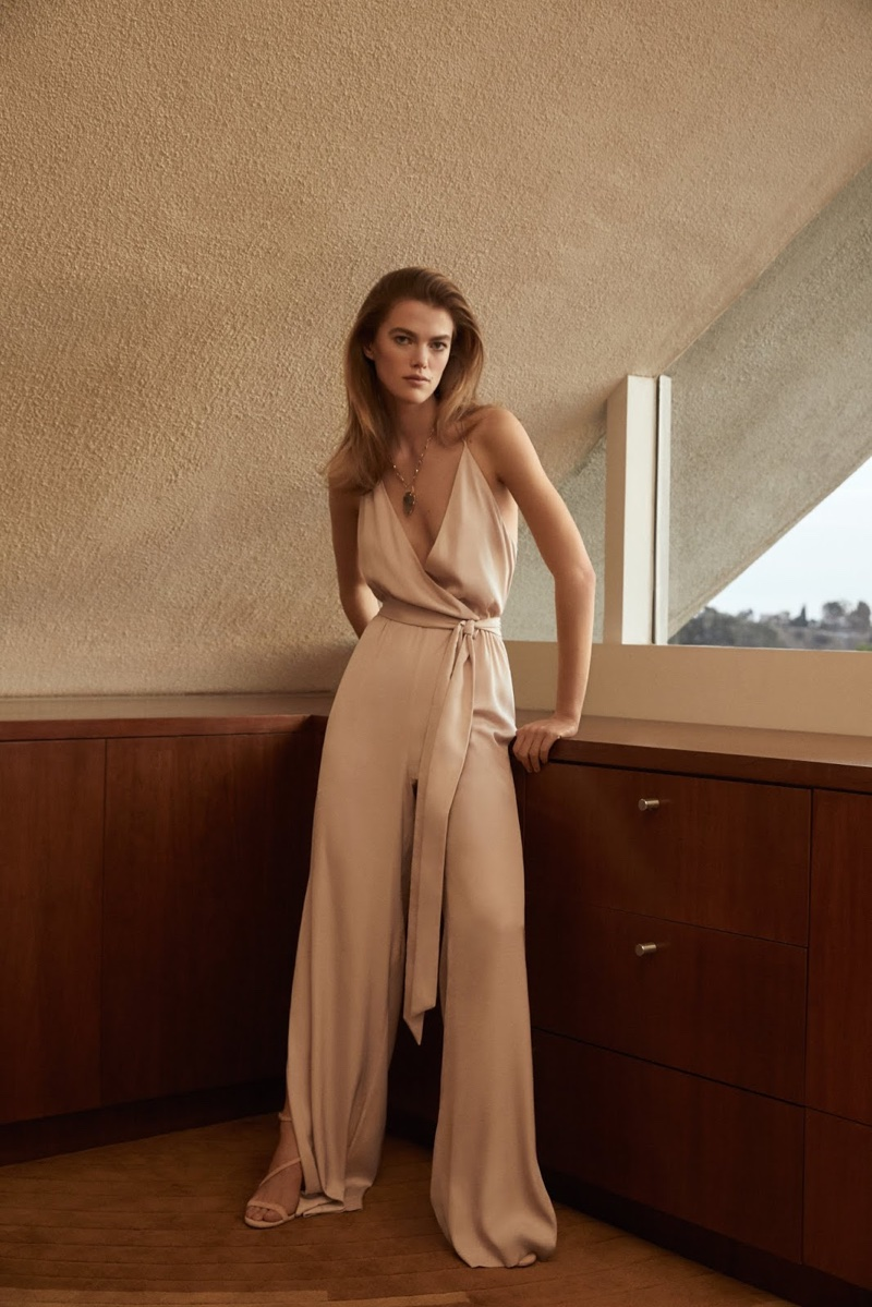 Mathilde Brandi poses in a jumpsuit for BCBG Max Azria's spring-summer 2018 campaign