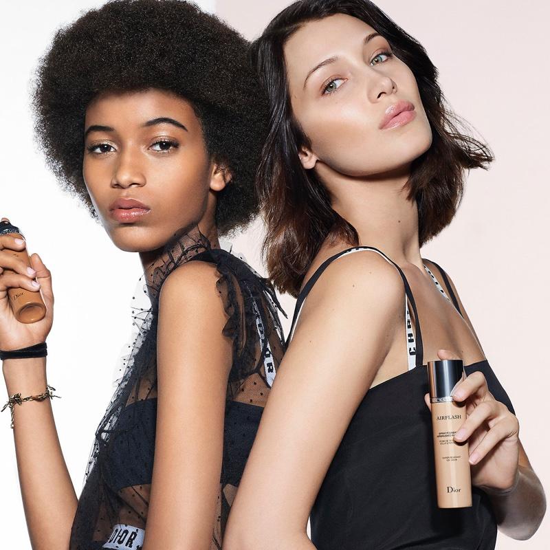 Manuela Sanchez and Bella Hadid front Dior Backstage makeup campaign