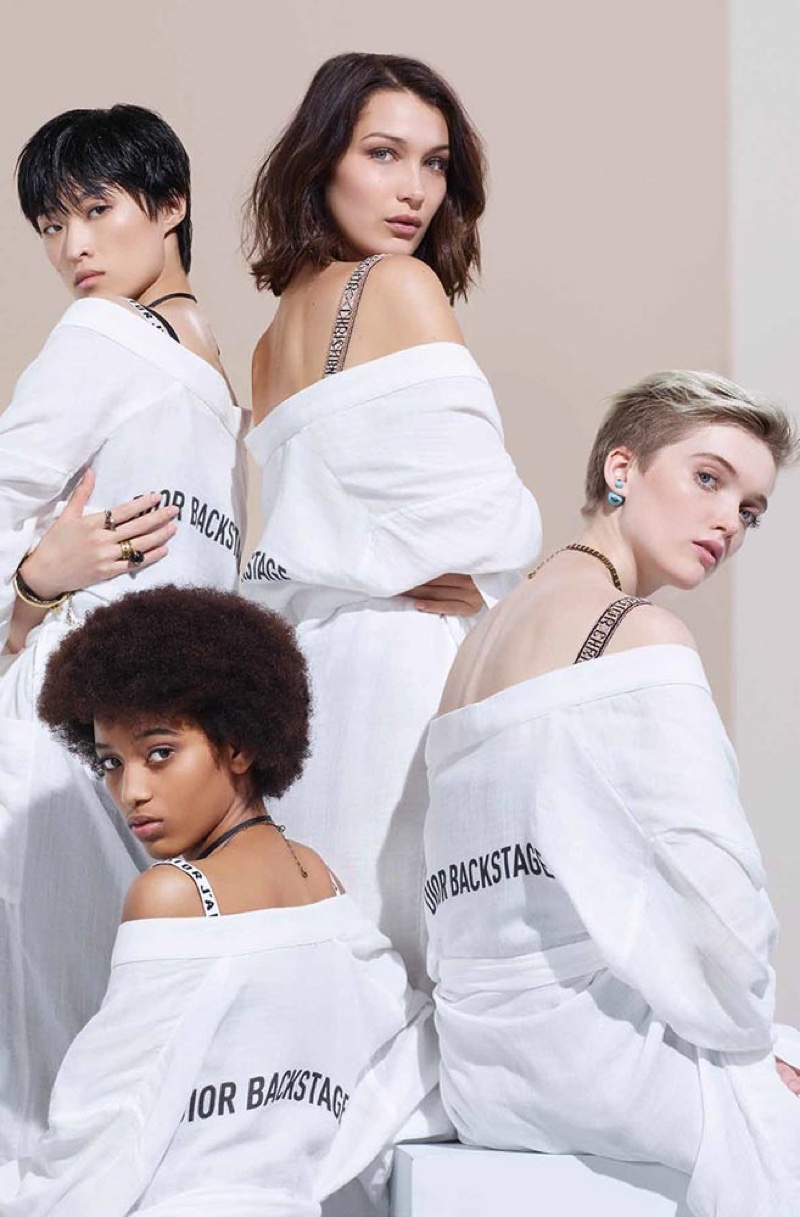 Dior Backstage taps Bella Hadid, Chu Wong, Manuela Sanchez and Ruth Bell for beauty campaign