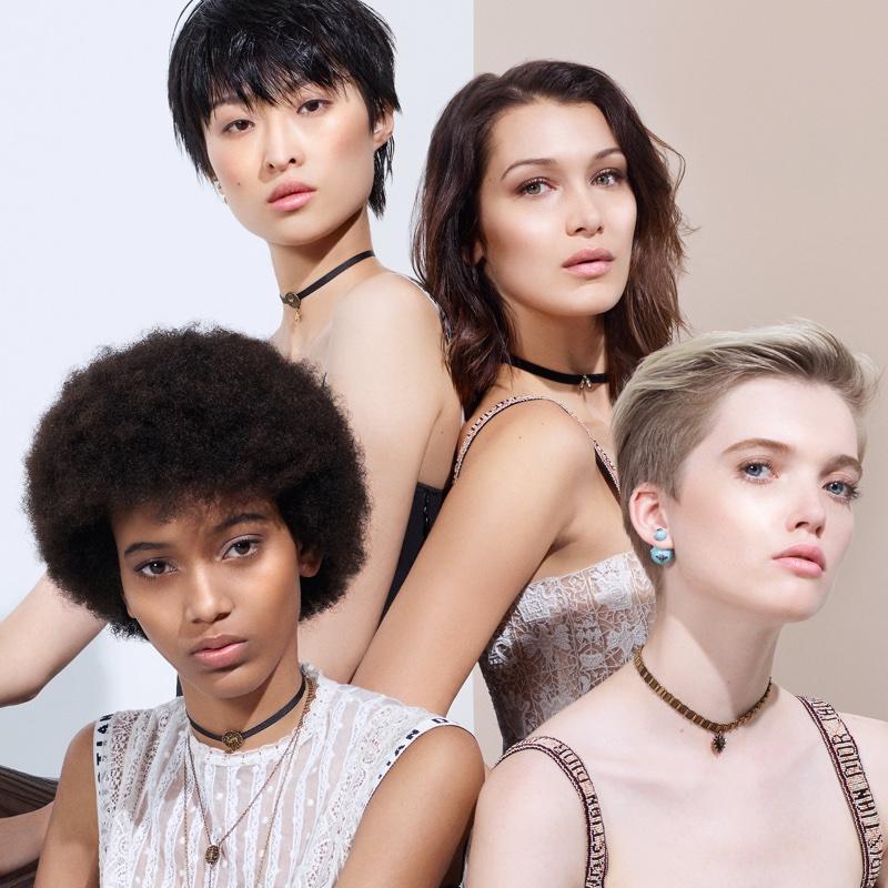 Bella Hadid Dior Backstage Beauty Ad Campaign