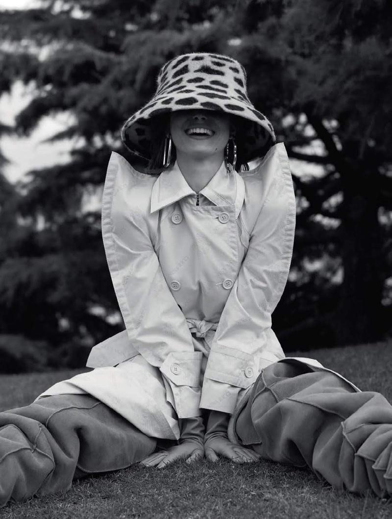 Birgit Kos Takes On New Season Trenches for Vogue Brazil