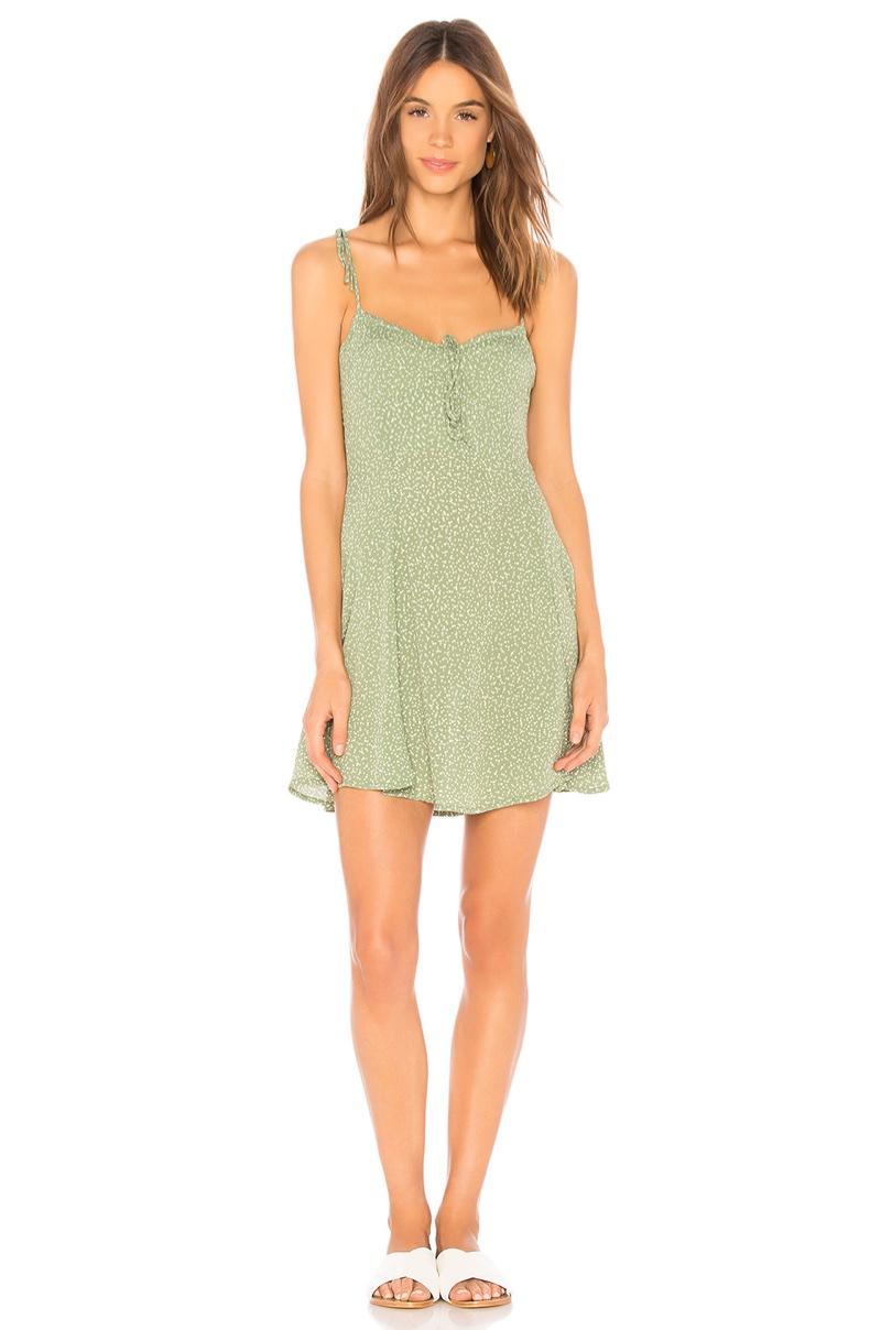 Blue Life x REVOLVE Sienna Corset Dress in Sage Polka Dot $163