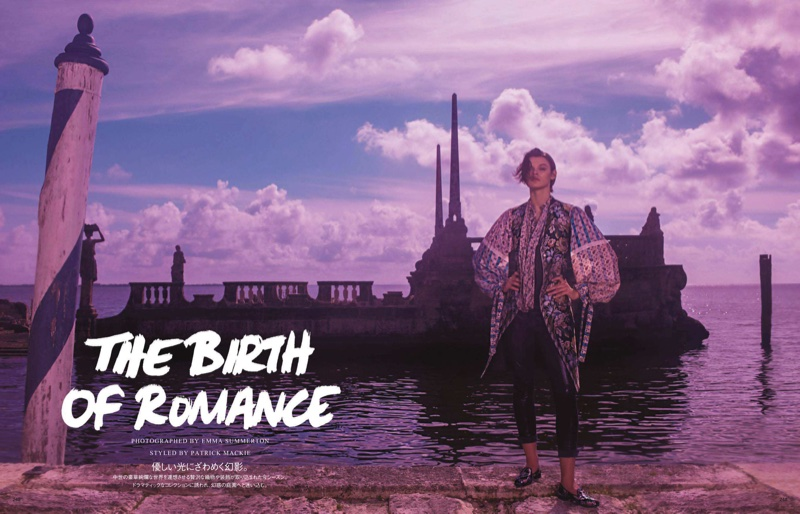 Cara Taylor Charms in Romantic Designs for Vogue Japan