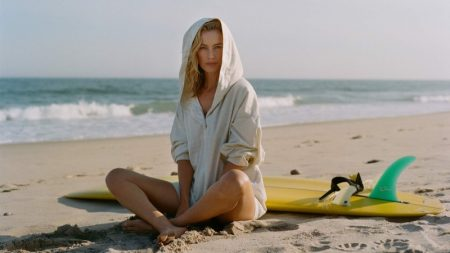 Carolyn Murphy Hits the Beach in Style for PORTER Edit