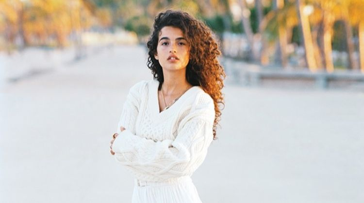 Chiara Scelsi Models Breezy Beach Fashion for InStyle
