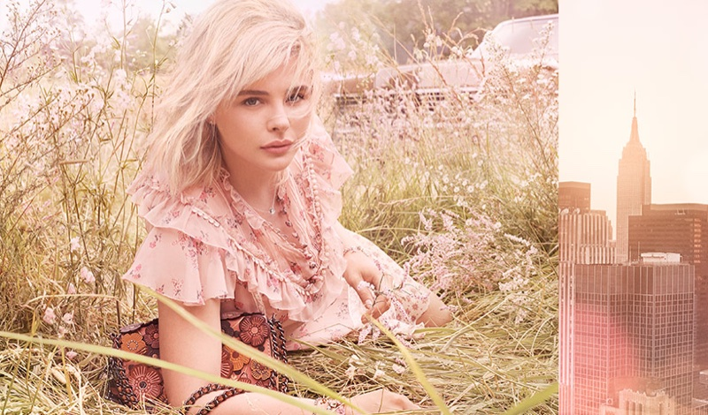 Chloe Grace Moretz stars in Coach Floral fragrance campaign