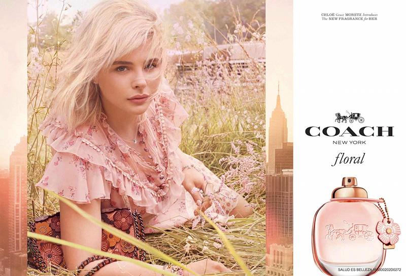 Actress Chloe Grace Moretz fronts Coach Floral perfume campaign