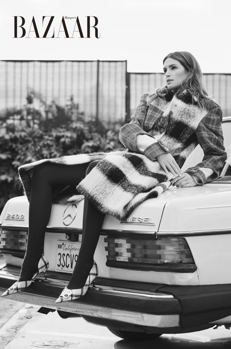 Cindy Crawford Models New Season Outerwear in Harper's Bazaar Taiwan