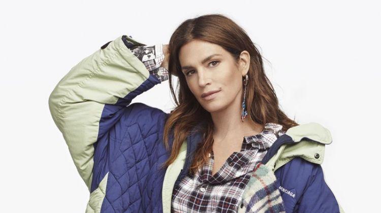 Cindy Crawford Models New Season Outerwear in Harper's Bazaar Taiwan