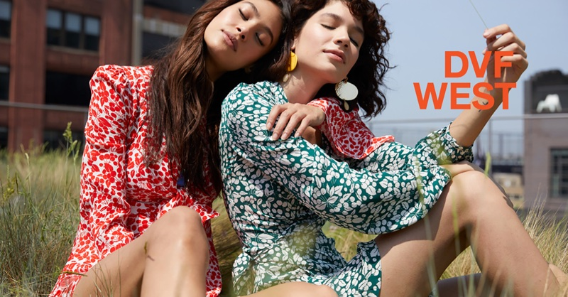Ziayla Pizarro and Ines Lopez star in DVF West's summer 2018 campaign