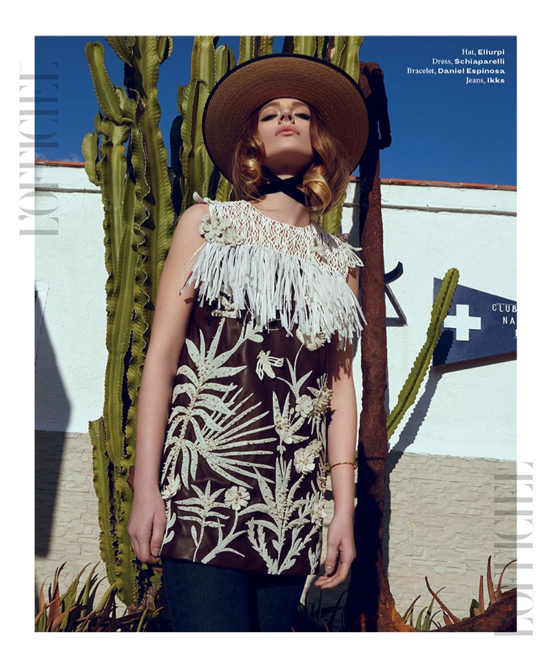 Dagmara Raczynska Models Summer Looks for L'Officiel India