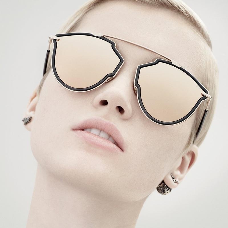Ruth Bell fronts Dior DiorSoReal fall-winter 2018 eyewear campaign