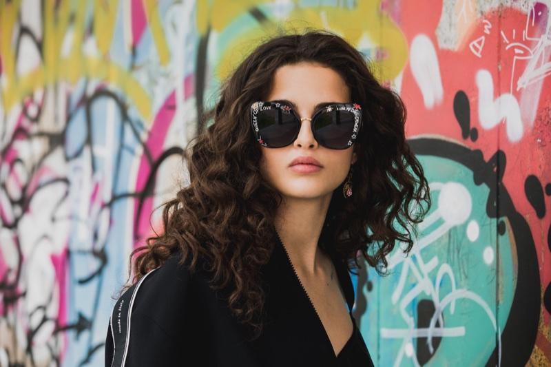 Chiara Scelsi stars in Dolce & Gabbana #DGGraffiti sunglasses campaign