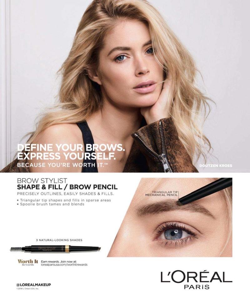 Doutzen Kroes fronts L'Oreal Paris Brow Stylist advertisement