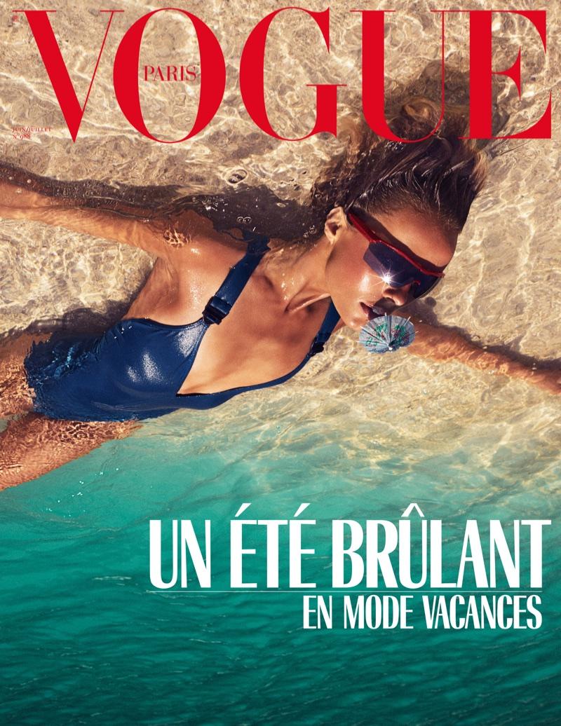 Edie Campbell Heats Up Swimsuit Season for Vogue Paris