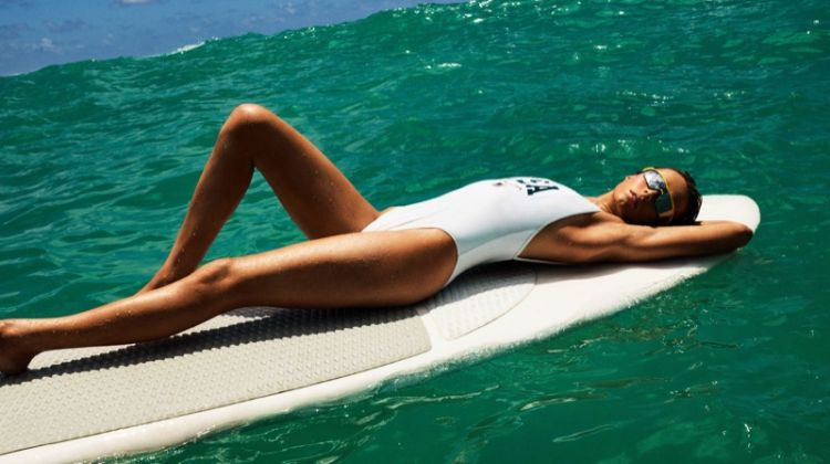 Edie Campbell Heats Up Swimsuit Season for Vogue Paris