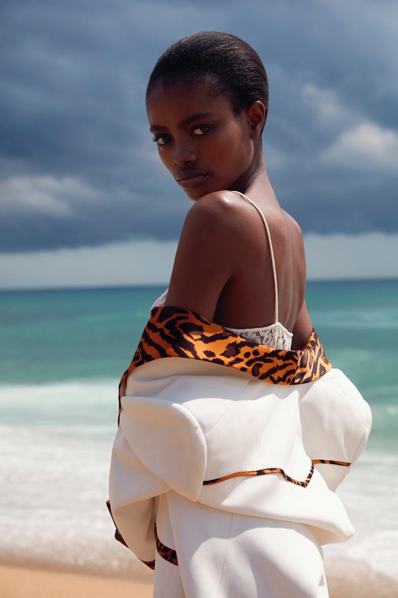 Elizabeth Ayodele Models Elegant Styles for Harper's Bazaar Kazakhstan