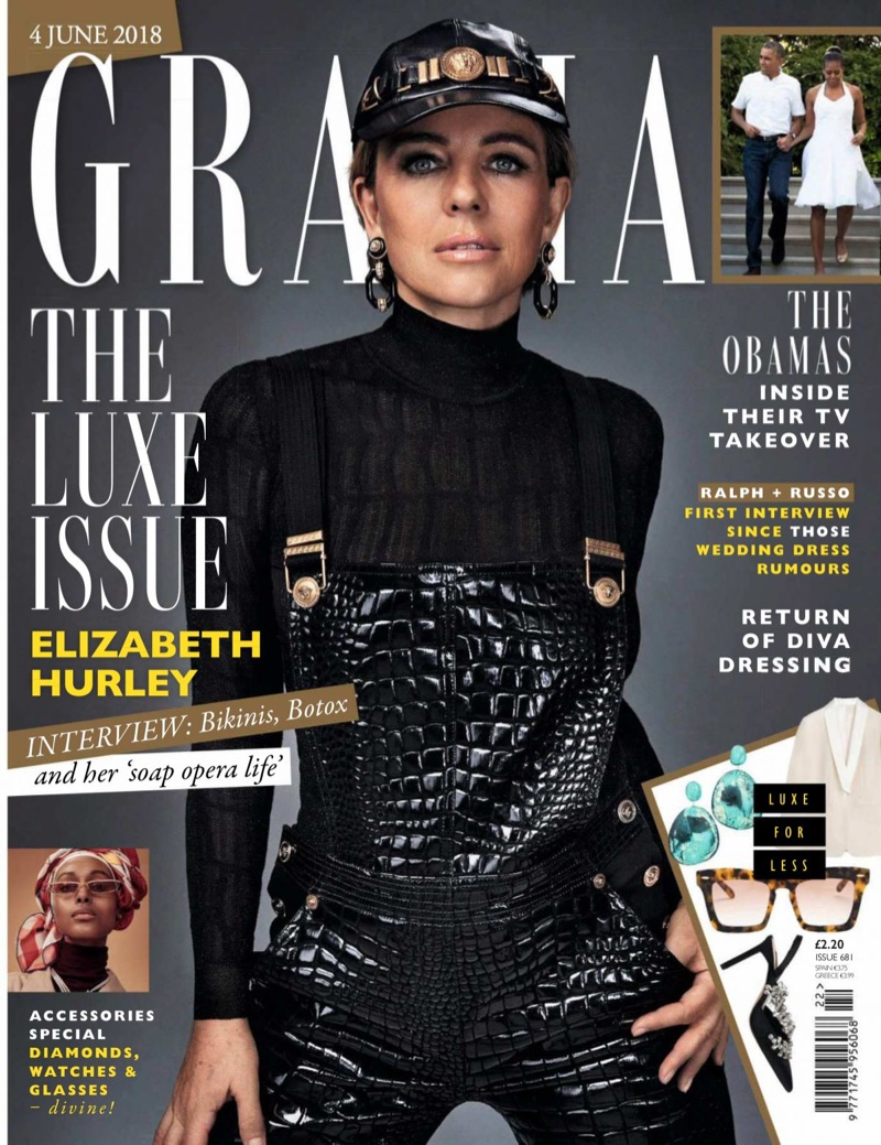 Elizabeth Hurley on Grazia UK June 4, 2018 Cover