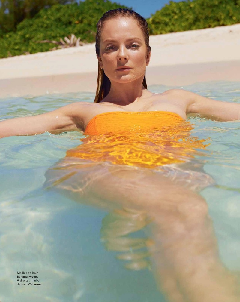 Eniko Mihalik Dives Into Beach Season for Marie Claire France