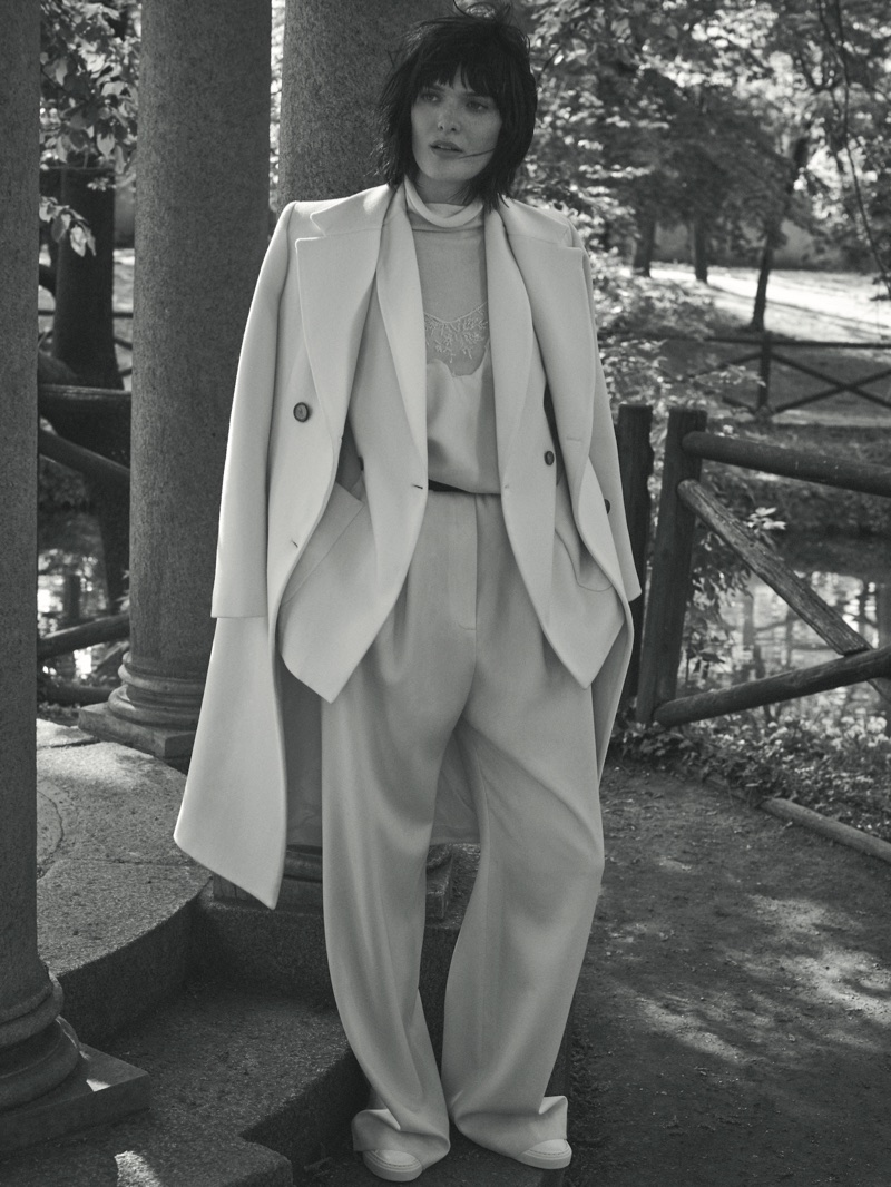 Suiting up, Sam Rollinson appears in Fabiana Filippi's fall-winter 2018 campaign