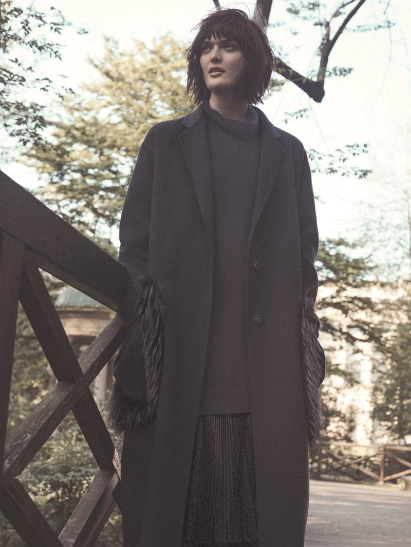 Dressed in dark colors, Sam Rollinson fronts Fabiana Filippi's fall-winter 2018 campaign