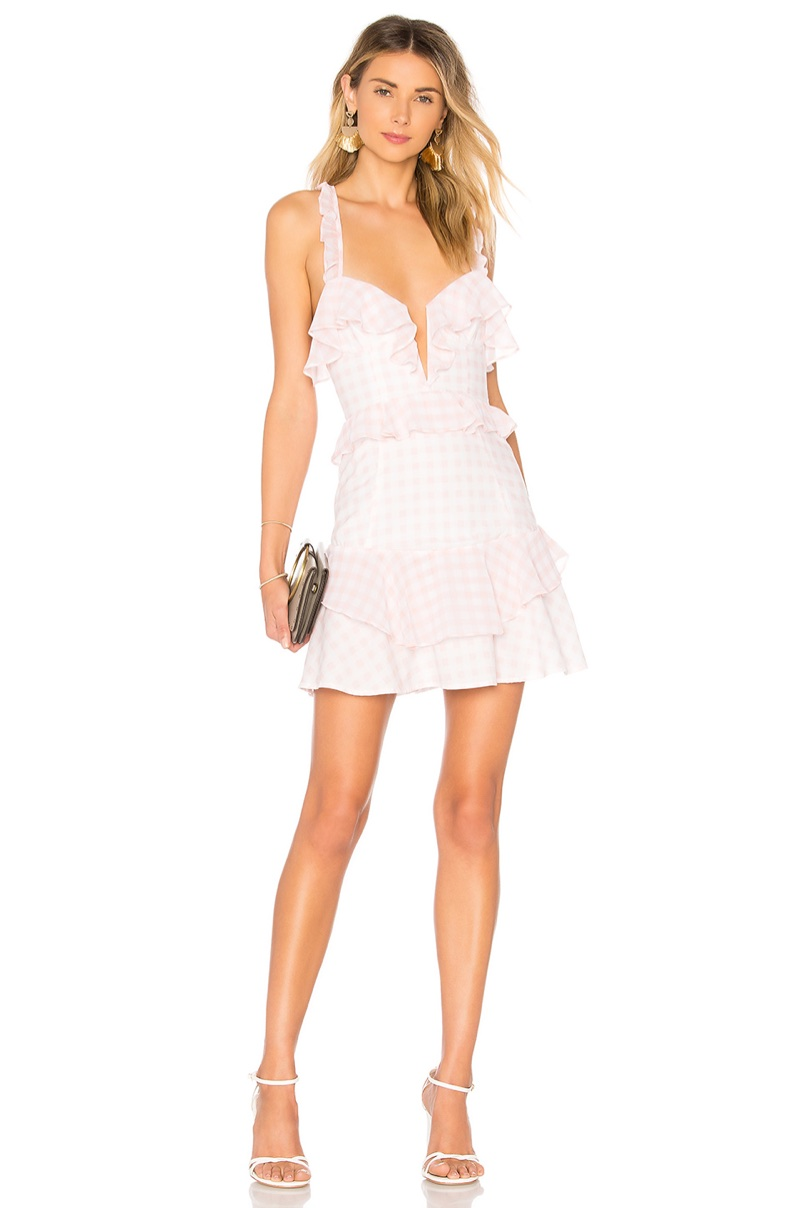 For Love & Lemons Dixie Ruffled Mini Dress $194