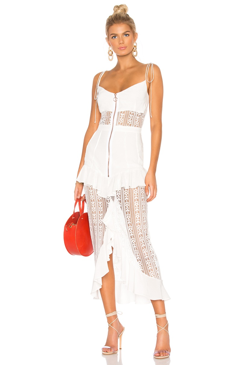 For Love & Lemons Lovebird Lace Midi Dress $268
