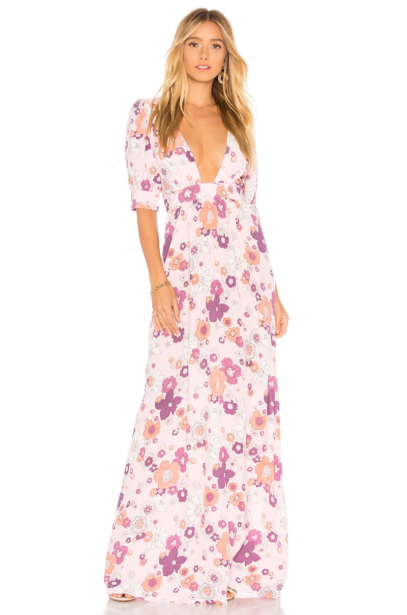 For Love & Lemons Magnolia Maxi Dress $326
